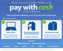 Now Pay with Cash at Walmart.com