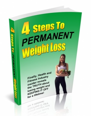 """Free weight loss eBook Giveaway - """"4 Steps to Permanent Weight Loss"""""""