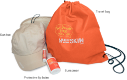 Free Sun Care Kit (Sunscreen, hat, more...)