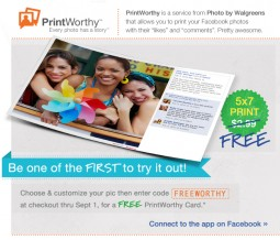 "Free 5x7"" Print at Walgreens"