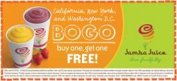 Jamba Juice: Buy 1 Smoothie Get 1 Free